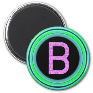 """Monogramm """"B """" Runder Magnet 5,7 Cm"""