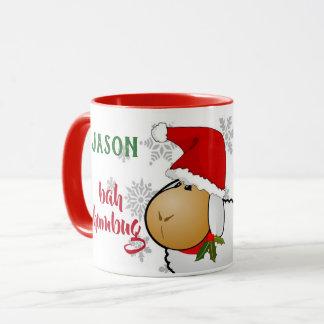 MONOGRAMM Bah Humbug-WeihnachtsTasse Tasse