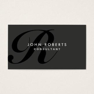 Monogramm-berufliches elegantes modernes Schwarzes Visitenkarten