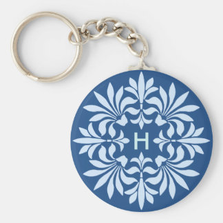 Monogramm blühen verziertes Vintages dekoratives Schlüsselanhänger