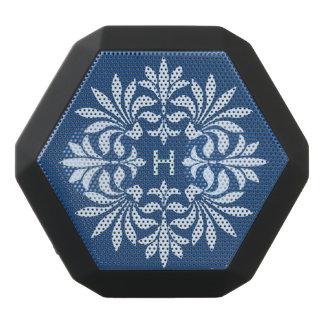 Monogramm blühen verziertes Vintages dekoratives Schwarze Bluetooth Lautsprecher