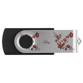 Monogramm-Blumenkunst USB-Schwenker-Blitz-Antrieb USB Stick