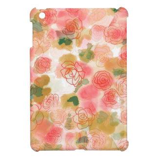 Monogramm-BlumenRosen iPad Mini Cover