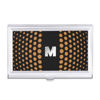 Monogramm-BronzeTupfen-Muster Visitenkarten Dose