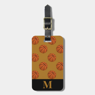 Monogramm-Brown-Basketball-Bälle, Mattgold Kofferanhänger