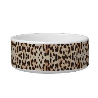 Monogramm-Brown-Leopard-Druck-Katze Napf