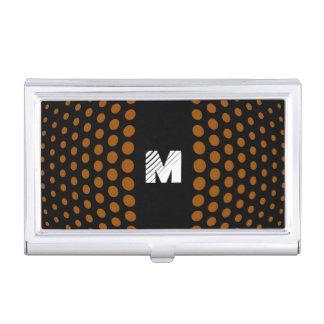 Monogramm-Brown-Tupfen-Muster Visitenkarten Etui