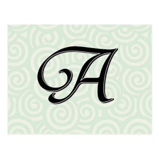 Monogramm-Buchstabe A Postkarte
