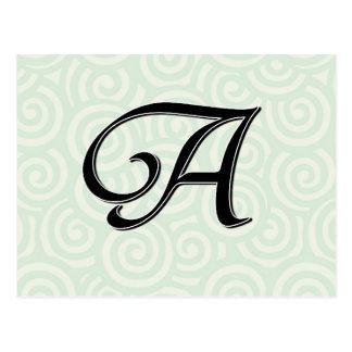 Monogramm-Buchstabe A Postkarten