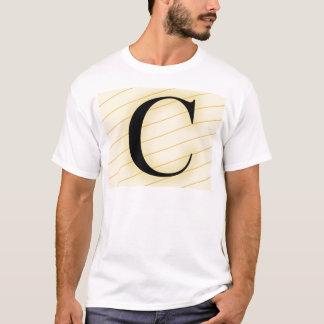Monogramm-Buchstabe - C (orange) T-Shirt