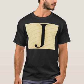 Monogramm-Buchstabe - J (orange) T-Shirt