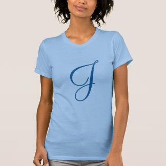 Monogramm-Buchstabe J T-Shirt