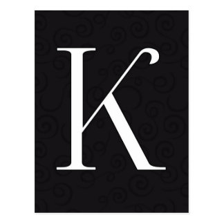 Monogramm-Buchstabe K Postkarten