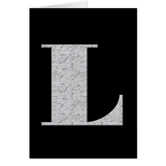 Monogramm-Buchstabe L Karte