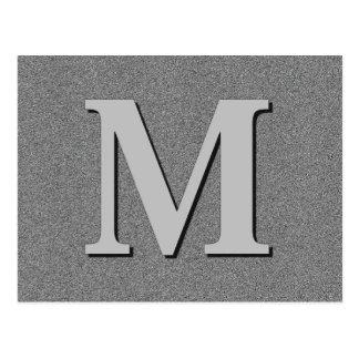 Monogramm-Buchstabe M Postkarte