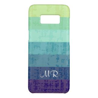 Monogramm-bunte Streifen-Namensinitialen Case-Mate Samsung Galaxy S8 Hülle