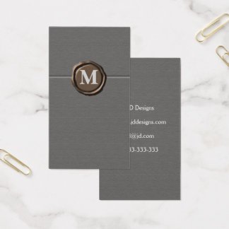 Monogramm businesscards visitenkarte