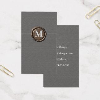 Monogramm businesscards visitenkarten
