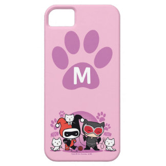 Monogramm Chibi Harley Quinn u. Catwoman mit Schutzhülle Fürs iPhone 5
