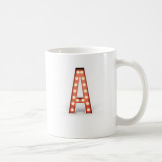 Monogramm, das ein Festzelt beleuchtet Kaffeetasse