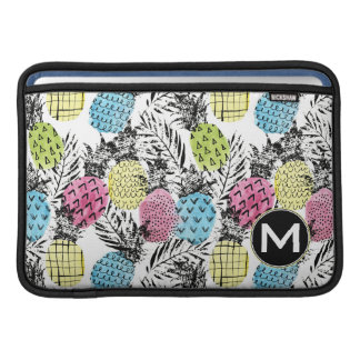 Monogramm der Ananas-Schmutz-Palmen-| MacBook Air Sleeve