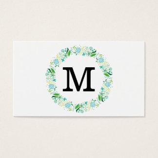 Monogramm der Blumen-| Visitenkarte