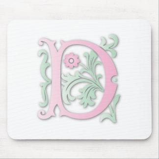Monogramm der Lilien-D Mousepad