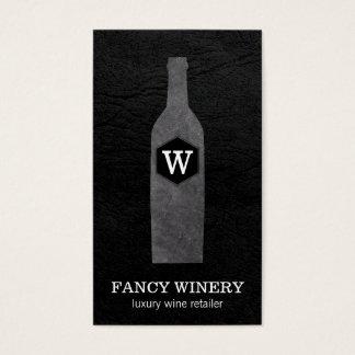 Monogramm der Wein-Flaschen-| des Schiefer-| Visitenkarte