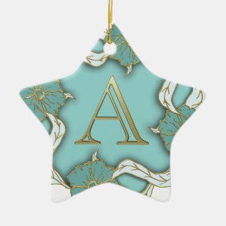 Monogramm des Alphabetes A Keramik Stern-Ornament