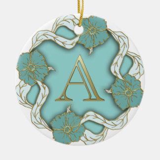 Monogramm des Alphabetes A Rundes Keramik Ornament