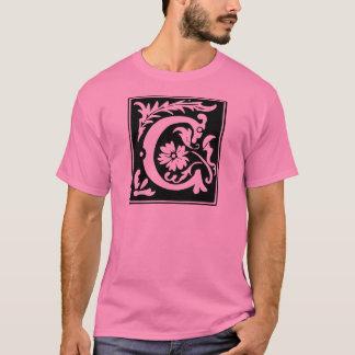 Monogramm des Buchstabe-C T-Shirt