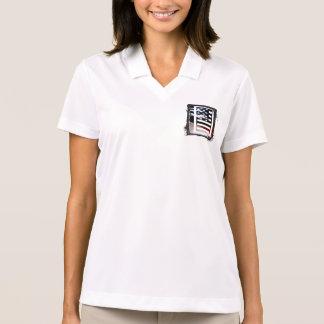 Monogramm des Buchstabe-I patriotische Polo Shirt