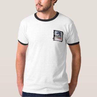 Monogramm des Buchstabe-I patriotische T-Shirt