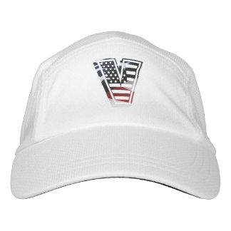 Monogramm des Buchstabe-V patriotische Headsweats Kappe