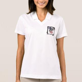 Monogramm des Buchstabe-V patriotische Polo Shirt