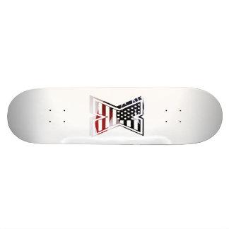 Monogramm des Buchstabe-X patriotische Personalisierte Skateboarddecks