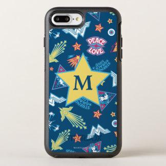 Monogramm des Wunder-Frauen-Ikonen-u. OtterBox Symmetry iPhone 8 Plus/7 Plus Hülle