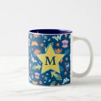 Monogramm des Wunder-Frauen-Ikonen-u. Zweifarbige Tasse