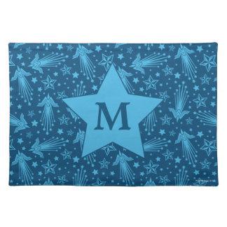 Monogramm des Wunder-Frauen-Symbol-Muster-| Tischset