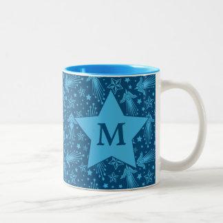 Monogramm des Wunder-Frauen-Symbol-Muster-| Zweifarbige Tasse