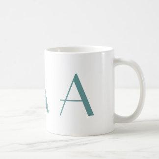 Monogramm eine blaue und weiße moderne kaffeetasse