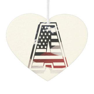 Monogramm eine USA-Flaggen-amerikanische Initiale Autolufterfrischer