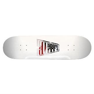 Monogramm eine USA-Flaggen-amerikanische Initiale Bedrucktes Skateboard