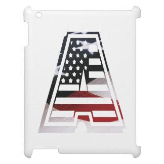 Monogramm eine USA-Flaggen-amerikanische Initiale iPad Hülle