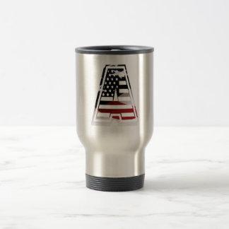 Monogramm eine USA-Flaggen-amerikanische Initiale Reisebecher