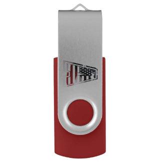 Monogramm eine USA-Flaggen-amerikanische Initiale USB Stick