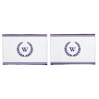 Monogramm-elegante Marine-Blau-Weiß-Kissenbezüge Kissenbezug