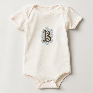Monogramm-Entwurf des Buchstabe-B Baby Strampler