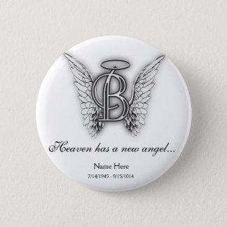 Monogramm-Erinnerungstribut-Buchstabe B Runder Button 5,1 Cm