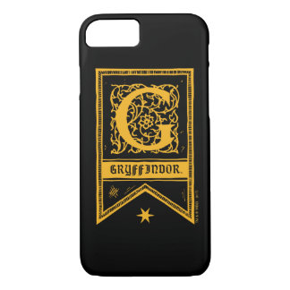 Monogramm-Fahne Harry Potters | Gryffindor iPhone 8/7 Hülle
